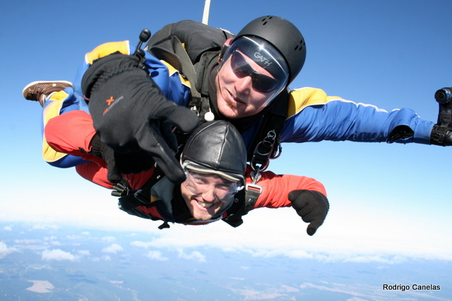 Skydiving in New Zealand in Taupo
